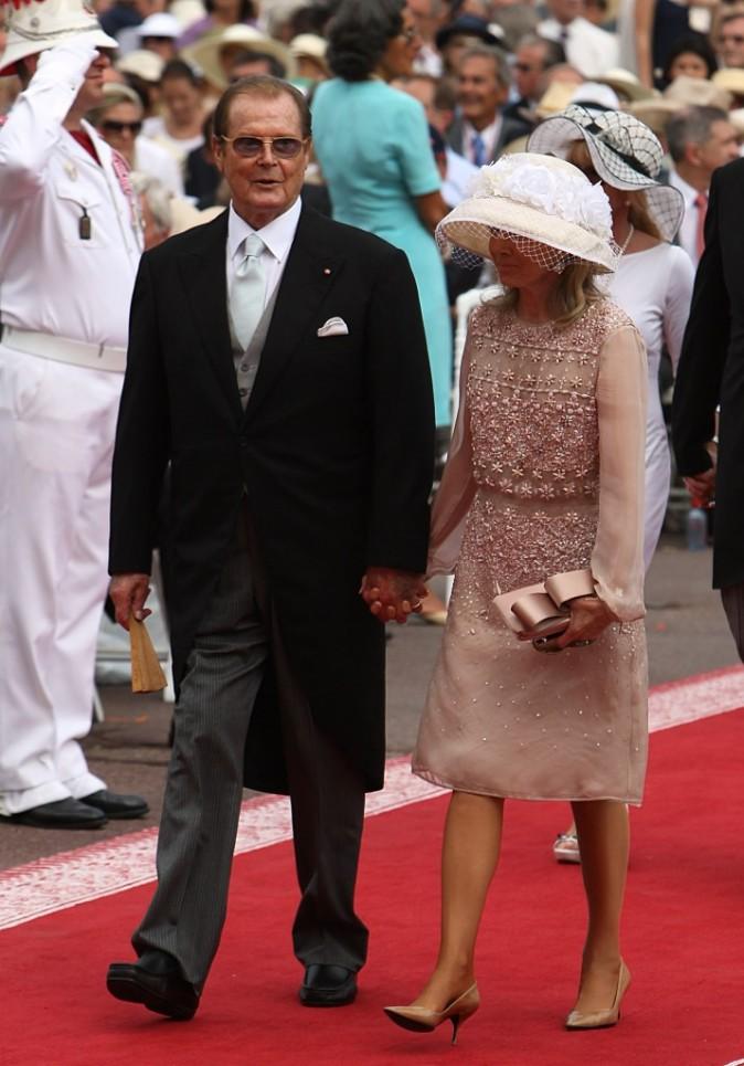 Roger Moore et sa femme