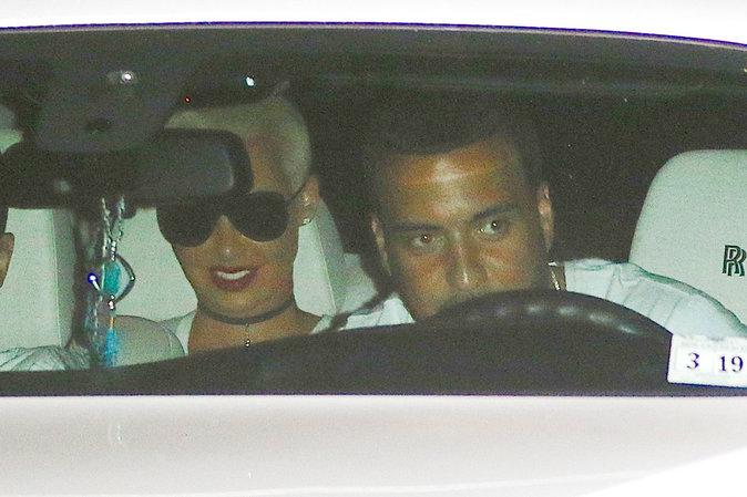 French Montana et Amber Rose au restaurant Nobu à Malibu ce lundi 5 juillet 2016