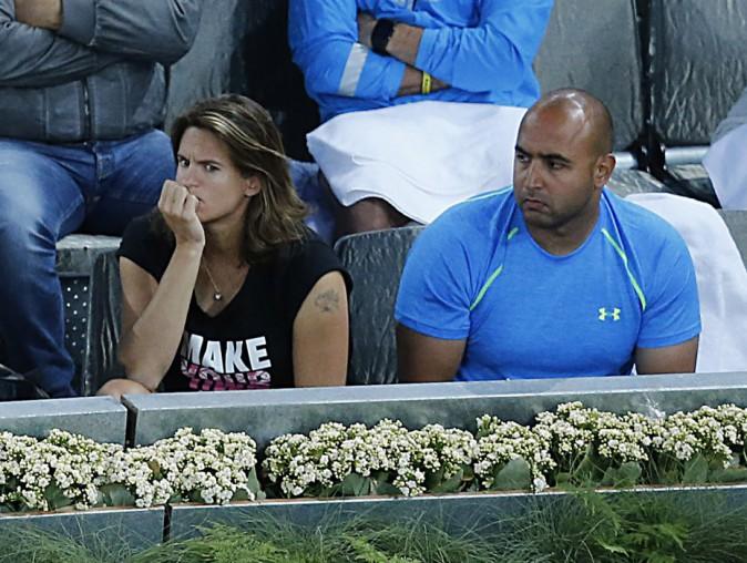 Amélie Mauresmo supporte Andy Murray le 10 mai 2015