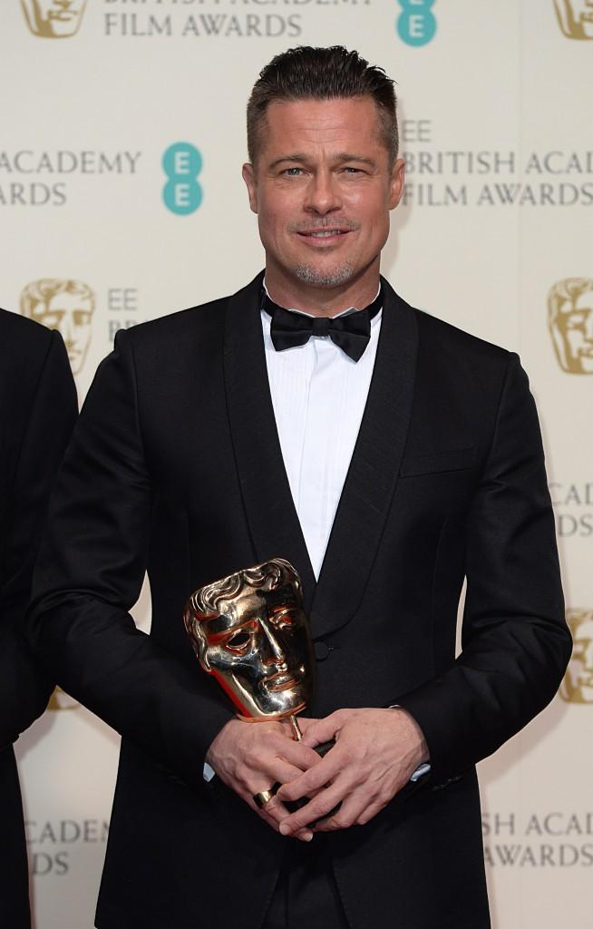 Brad Pitt lors de la cérémonie des BAFTA Awards à Londres, le 16 février 2014.
