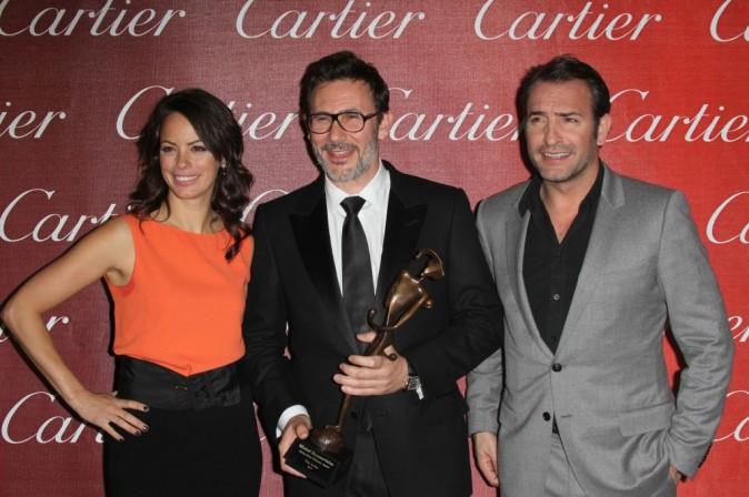 Bérénice Bejo, Jean Dujardin et Michel Hazanavicius au Palm Springs International Film Festival
