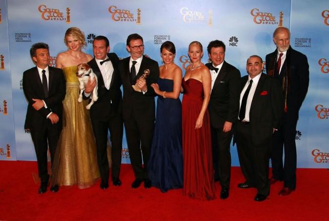 L'équipe de The Artist à la cérémonie des Golden Globe