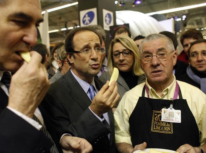 François Hollande : les dégustations, c'est toujours pour sa pomme!