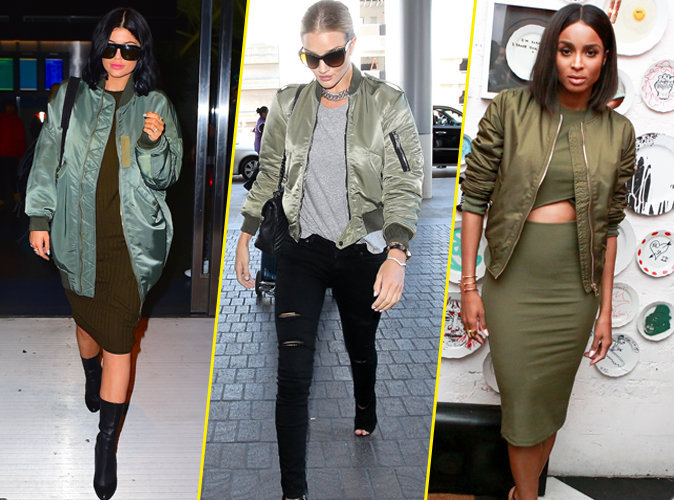 Kylie Jenner, Rosie Huntington-Whiteley, Ciara... Toutes les stars craquent pour le Bombers !