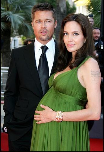 2008 : Brad Pitt et Angelina Jolie enceinte des jumeaux, lors de la 61 ème cérémonie du film de Cannes