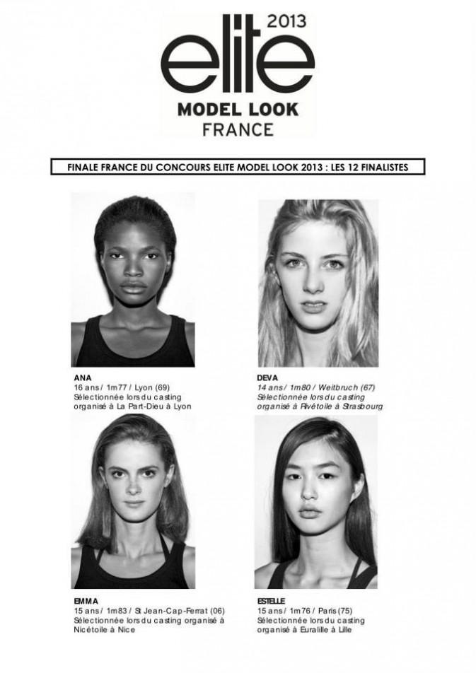 Les finalistes Elite Model Look France