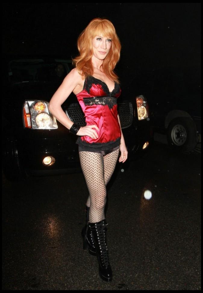 Kathy Griffin lors de la soirée pré-anniversaire de Paris Hilton, le 15 février 2011 à Hollywood.