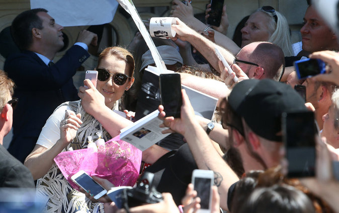 Céline Dion une star proche de ses fans