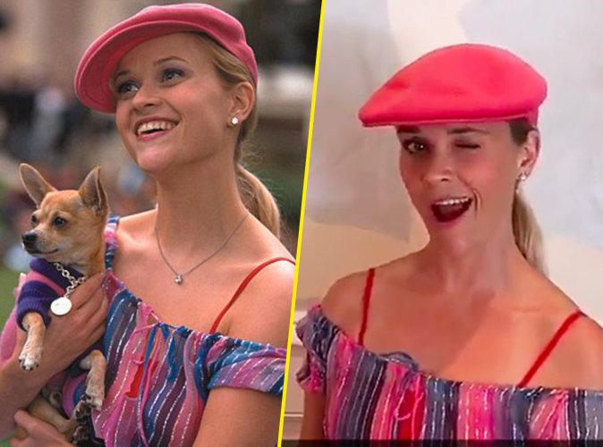 """Ces deux photos ont 15 ans d'écart ! Quand Reese Witherspoon rejoue """"La Revanche d'une blonde"""" !"""