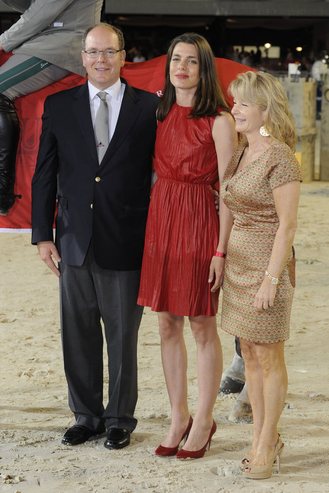 Charlotte Casiraghi et le Prince Albert à Monaco le 26 juin 2016