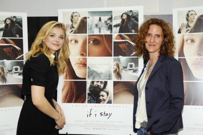 Chloë Moretz en promo pour le film If I Stay, en Virginie le 29 juillet