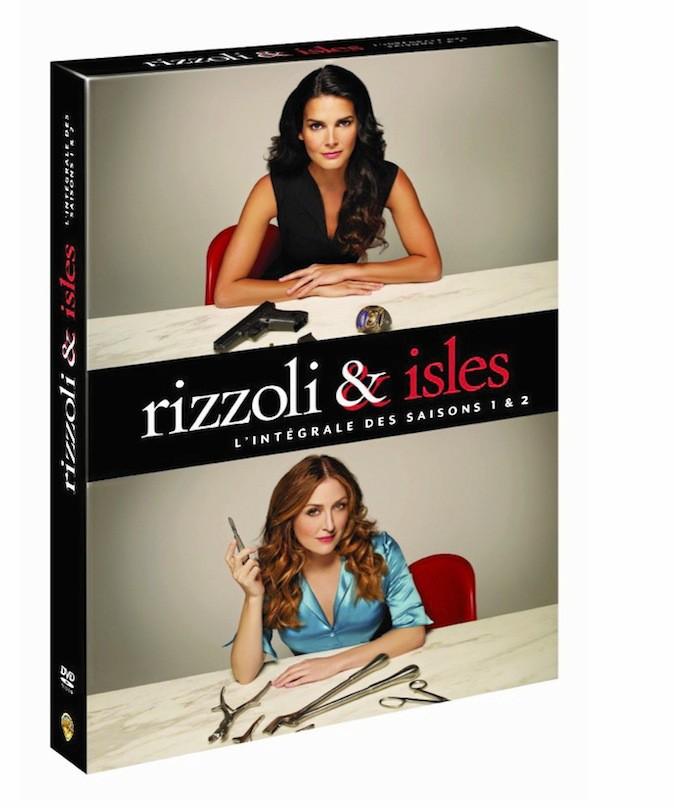 DVD : Rizzoli & Isles saisons 1 et 2 Warner. 39,99 €.
