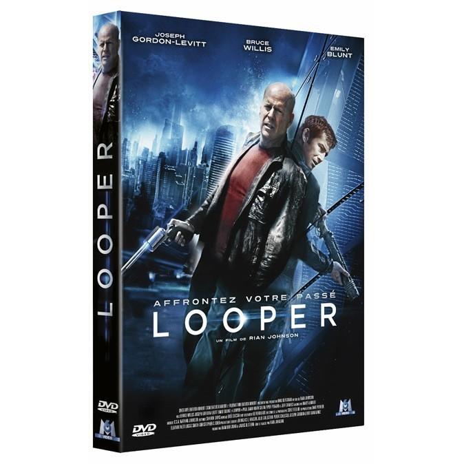 Looper de Rian Johnson avec Joseph Gordon-Levitt et Bruce Willis, M6 Vidéo. 19,99 €.