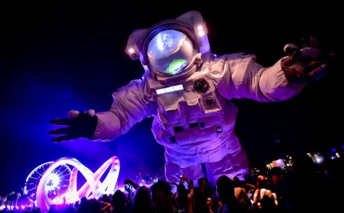 L'astronaute géant : la mascotte du festival de Coachella