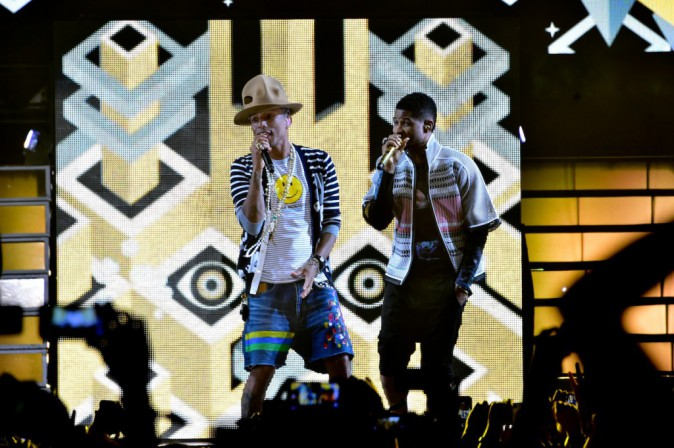 Pharrell Williams et Usher à Coachella