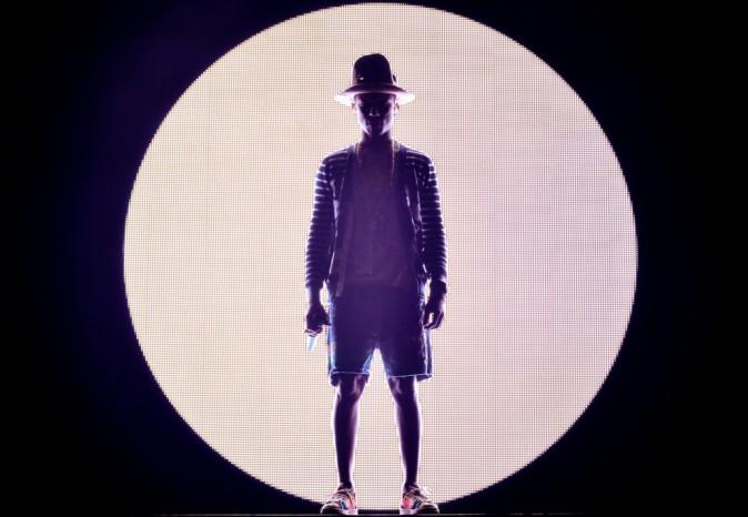 Pharrell Williams sur la scène du festival de Coachella
