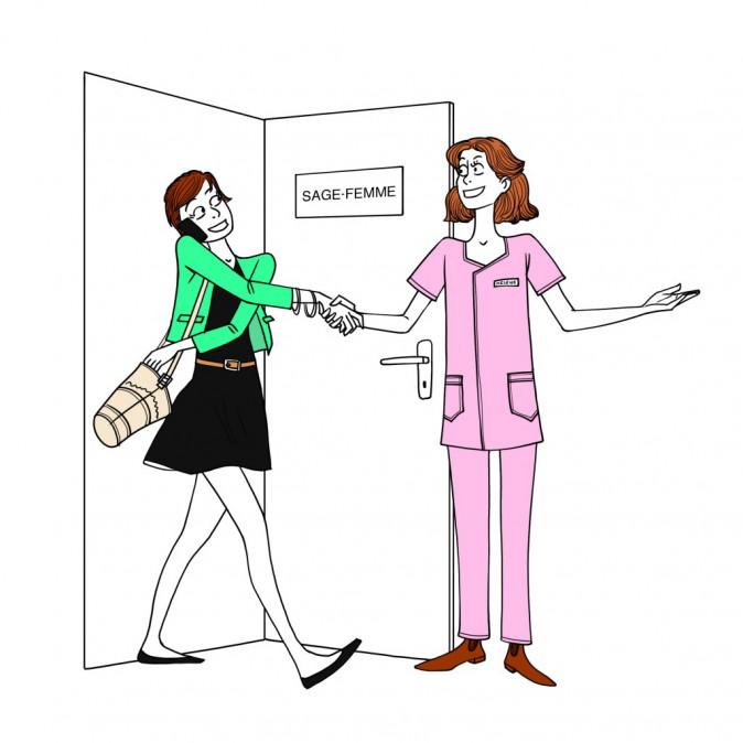 La sage-femme. Pas besoin d'être enceinte pour bénéficier de ses consultations de contraception et de suivi gynécologique de prévention (en v...