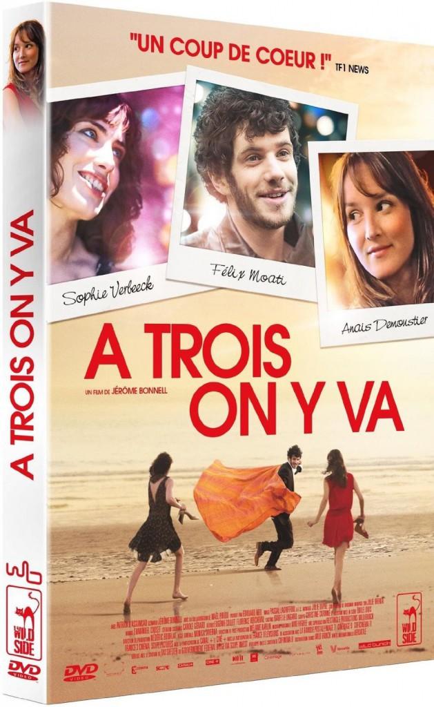 À trois on y va, de Jérôme Bonnell, avec Anaïs Demoustier, Félix Moati et Sophie Verbeeck, Wildside. 12,99 €.