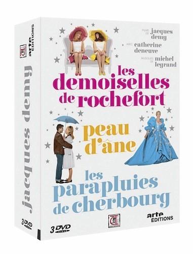 Les parapluies de Cherbourg – Peau d'âne – Les demoiselles de Rochefort Coffret Jacques Demy, Arte éditions. 29,99 €.