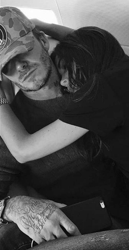 Victoria Beckham et David Beckham sont adorables