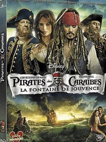 Pirates des Caraïbes la fontaine de jouvance avec Johnny Depp et Penelope Cruz, Walt Disney France, 19,99€