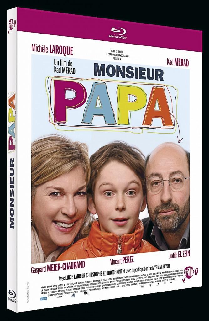 Le DVD de la semaine : Monsieur Papa de et avec Kad Merad, Michèle Laroque et Vincent Perez. DVD Fox Pathé Europa. 19,99€