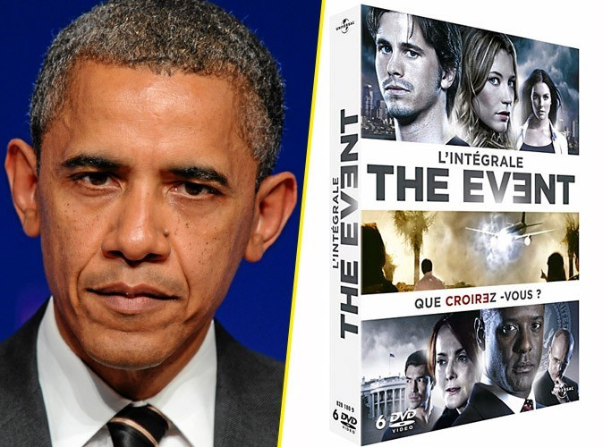 Barack Obama, on lui conseille :   The Event l'intégrale, DVD Universal. 39,99 €.