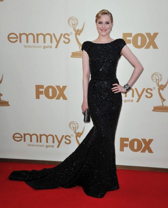 Evan Rachel Wood lors de la cérémonie des Emmy Awards 2011, le 18 septembre 2011 à Los Angeles.