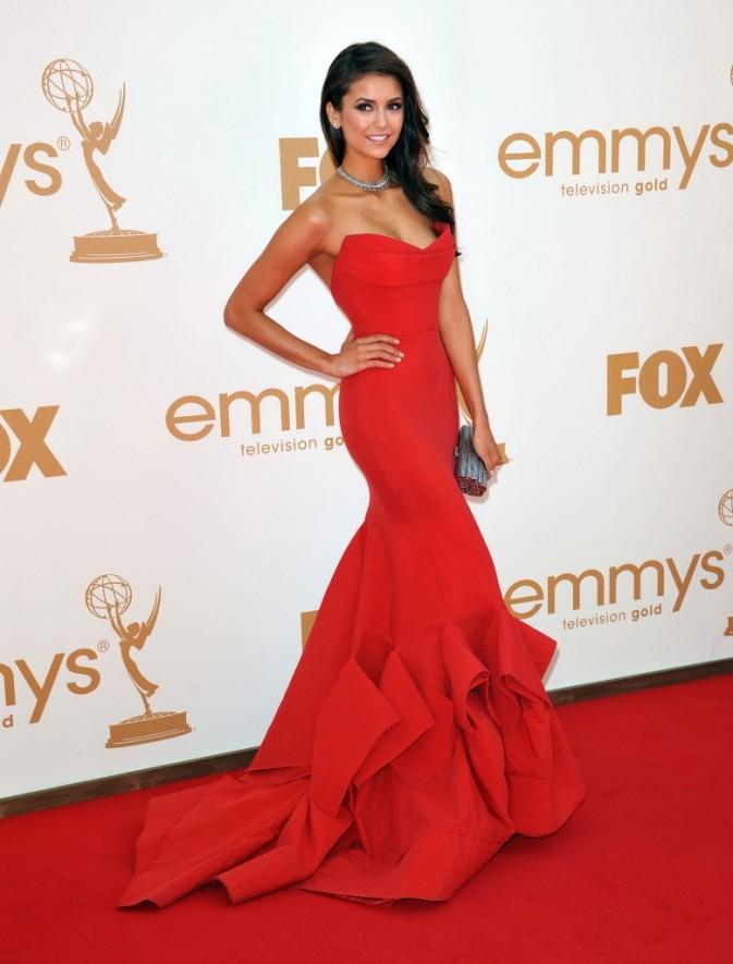 Nina Dobrev lors de la cérémonie des Emmy Awards 2011, le 18 septembre 2011 à Los Angeles.