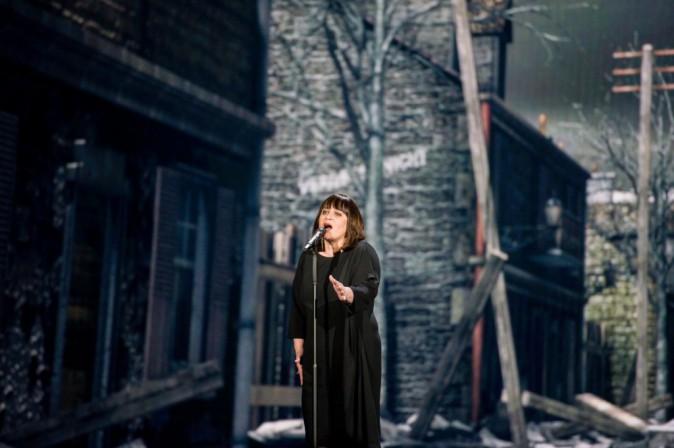 Lisa Angell lors des répétitions de l'Eurovision 2015 le 22 mai 2015