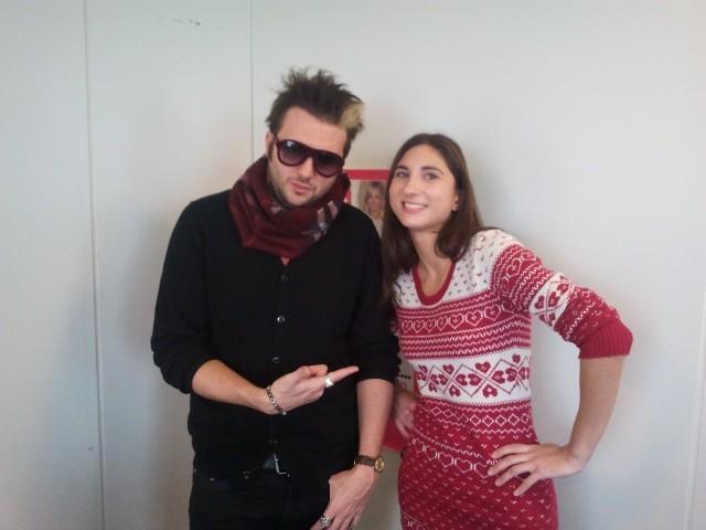 Helmut a particulièrement aimé la robe de Noël !