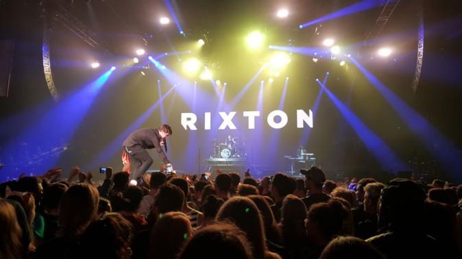 Rixton en première partie du concert d'Ariana Grande au Zénith de Paris le 14 mai 2015