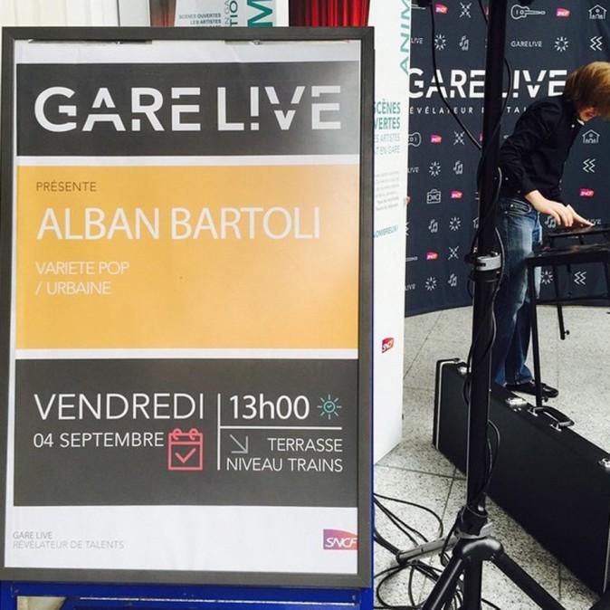 Alban Bartoli, en concert à la gare Saint-Lazare