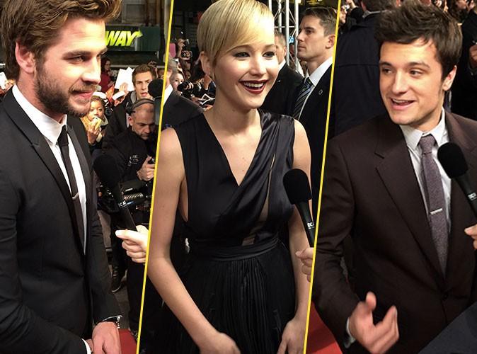 Exclu Public : Jennifer Lawrence, Liam Hemsworth, Josh Hutcherson, Public les a rencontrés sur le tapis rouge pour l'avant-première de Hunger Game...