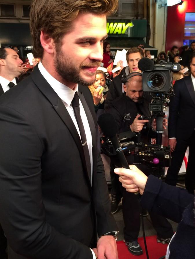Liam Hemsworth le 15 novembre au Grand Rex, Paris, pour l'avant-première de Hunger Games 2