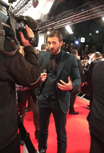 Chris Evans à Paris le 17 mars 2014
