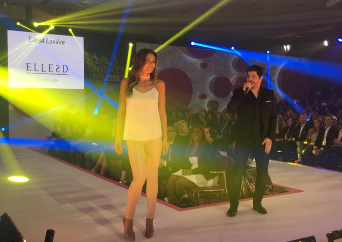 Marine Lorphelin et Patrick Fiori lors de la 8e édition du Casa Fashion Show