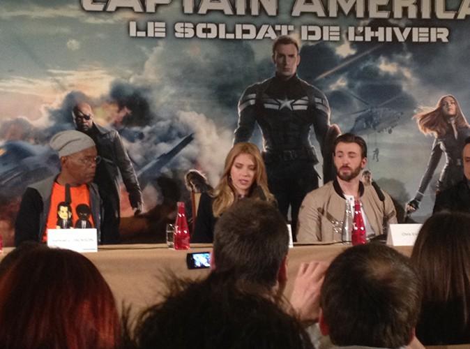 """L'équipe de """"Captain America"""" à Paris le 17 mars 2014"""