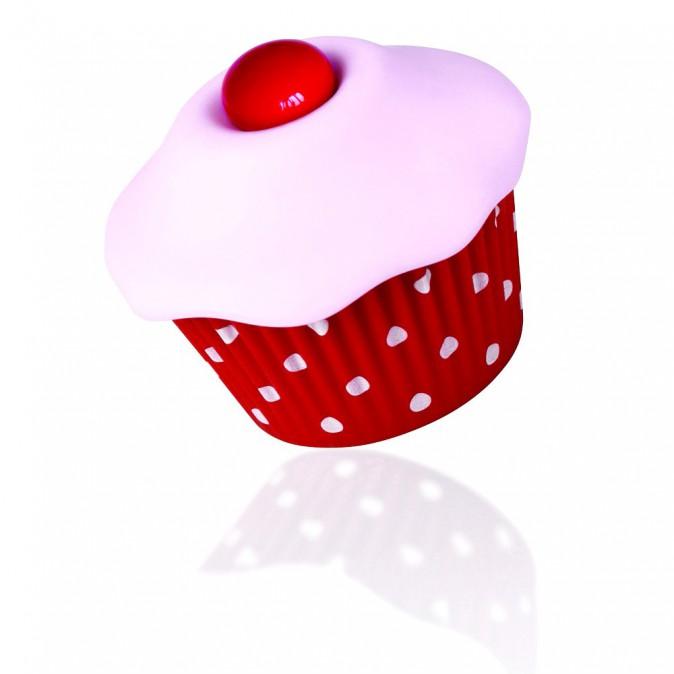 Vibromasseur cupcake 5 vibrations, Aumoulinrose.com 49€