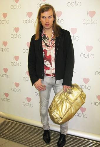 Christophe Guillarmé à la soirée YSL chez I Love Optic