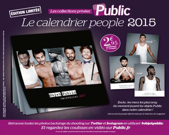 Le calendrier people 2015 de Public à découvrir dès la semaine prochaine