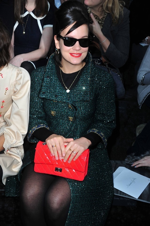 Lily Allen au défilé Chanel