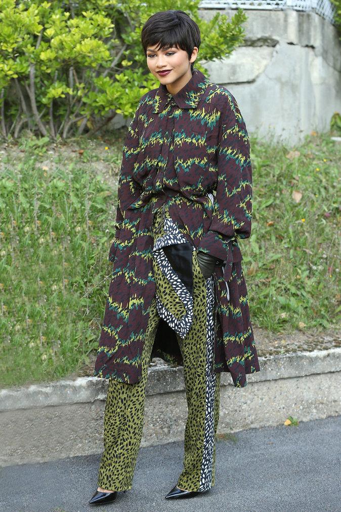 Zendaya à Paris lors de la Fashion Week