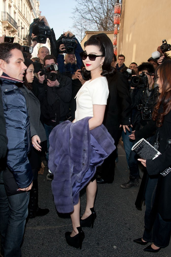 Fashion Week Paris : Li Bingbing avant le défilé Dior