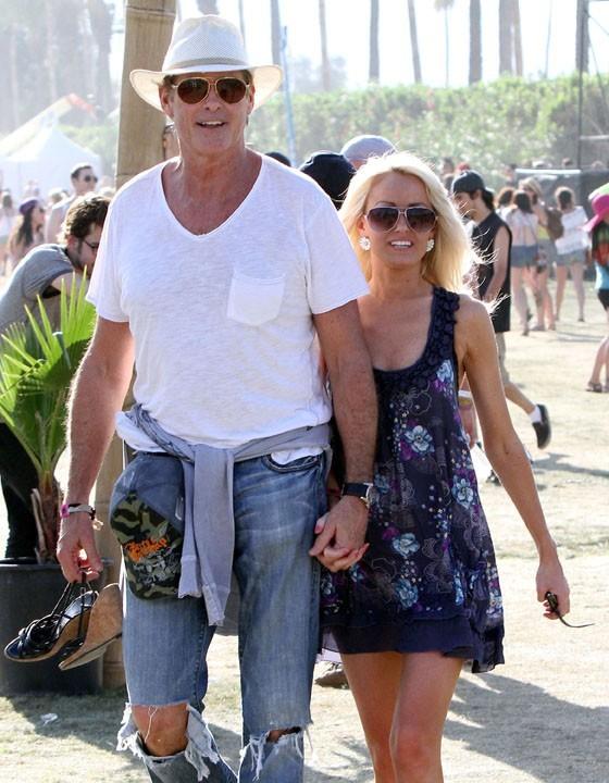 David Hasselhoff et la nouvelle blonde de sa vie, Hayley Roberts...