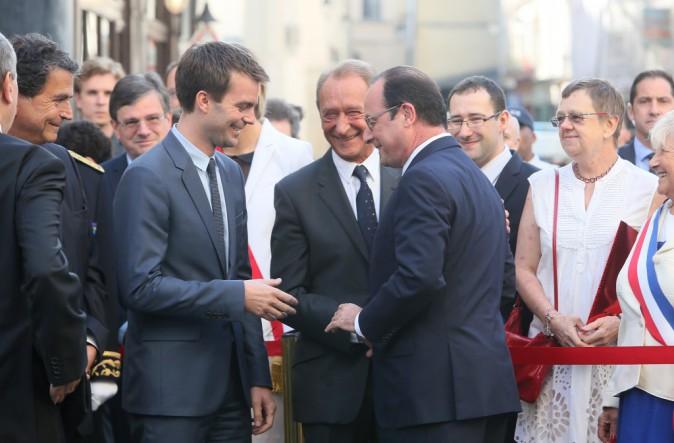 François Hollande assiste aux commémorations des 100 ans de la mort de Jean Jaurès, à Paris le 31 juillet 2014.
