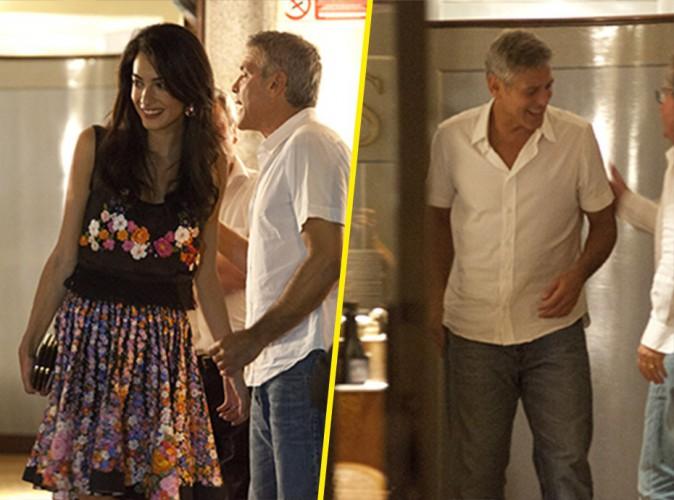 George Clooney et Amal Alamuddin : complices et amoureux lors d'un diner romantique en Italie !