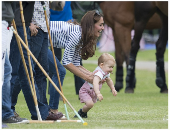 15 juin 2014 : le petit prince a semble t-il envie de rejoindre son papa sur le terrain !