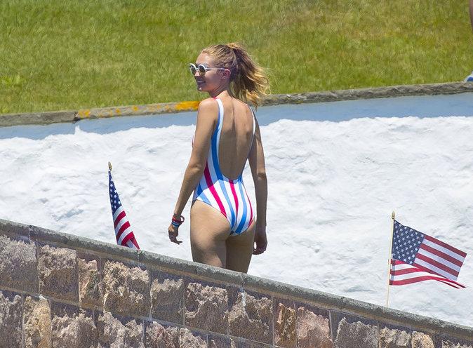 Gigi Hadid à Rhode Island le 4 juillet 2016