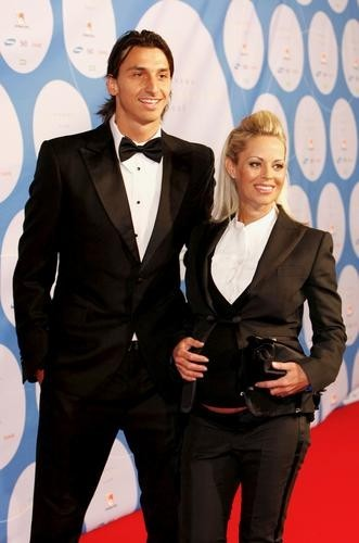 Helena et Zlatan ay gala des Swedish Sports Awards